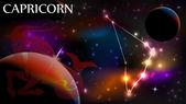 Steinbock - astrologische Zeichen und Kopie-Raum