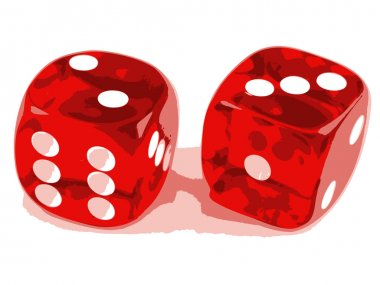 2 dice showing 2 and 3