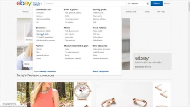 počítač uživatel procházet ebay stránky kategorie. Hledám fotoaparát