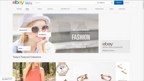 počítač uživatel procházet ebay stránky kategorie.