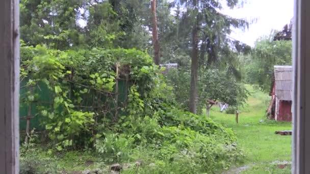 deštivé letní den střílel z venkovské usedlosti okna