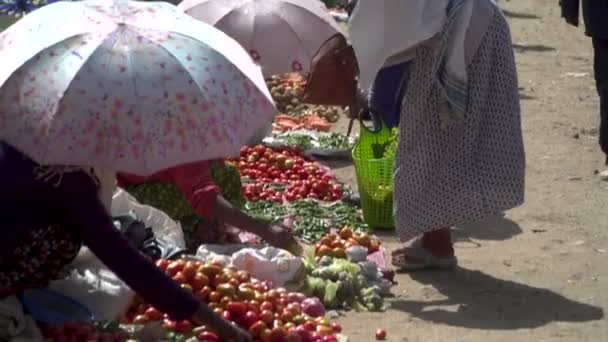 A fruit market in a North Africa