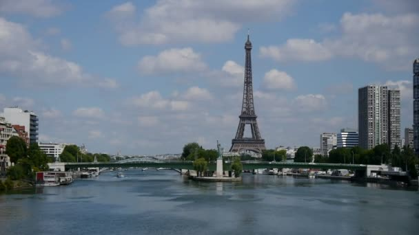view across paris to the eiffel tower