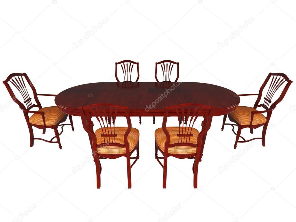 mobili da sala da pranzo di rendering 3D — Foto Stock © kellkinel ...