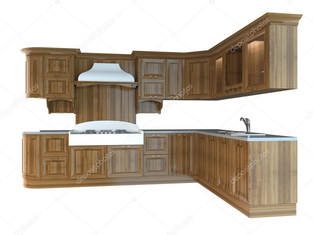 Render 3d y muebles para cocina foto de stock for Stock de muebles