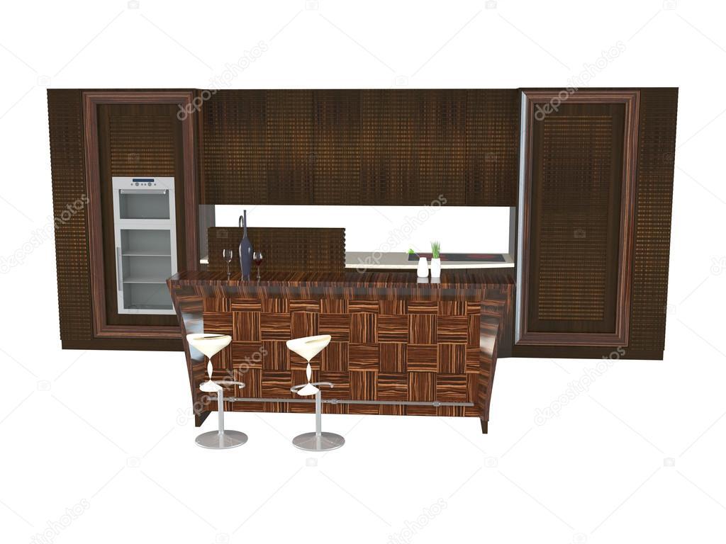 rendering 3D mobili per cucina — Foto Stock © kellkinel #113995332
