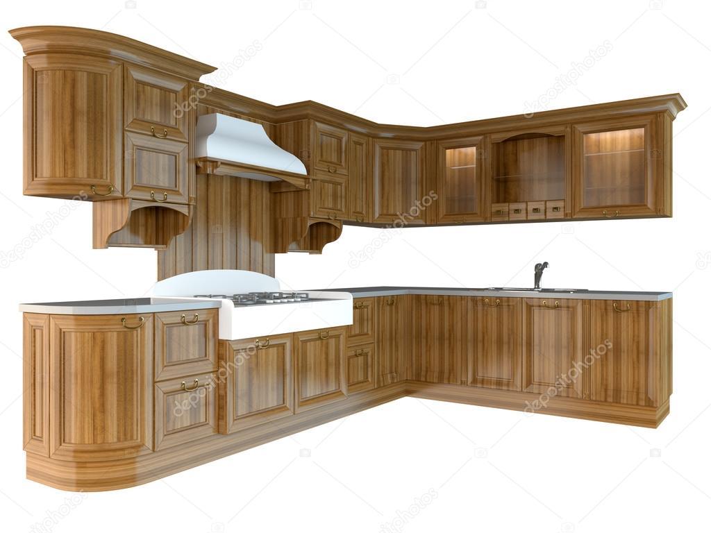 Render 3D y muebles para cocina — Fotos de Stock © kellkinel #113995340