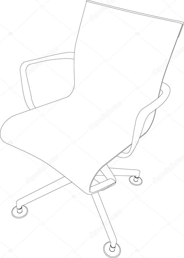 3D rendering of office chair — Stock Vector © kellkinel #115492308