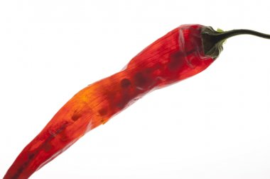 See through red pepper.