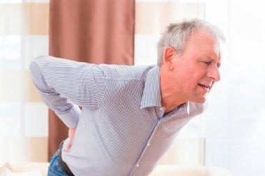 Senior man having back pain