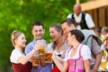In Beer garden - friends