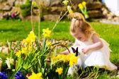 Dívka na lov motýlů s vejci