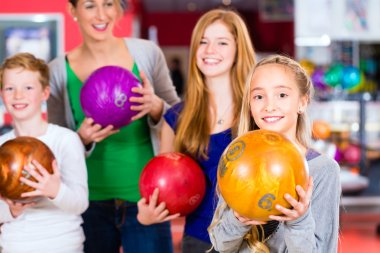 Family at Bowling Center