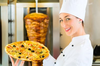 Kebab - hot and fresh Turkish pizza