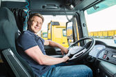 Fotografie Forwarder or truck driver in drivers cap