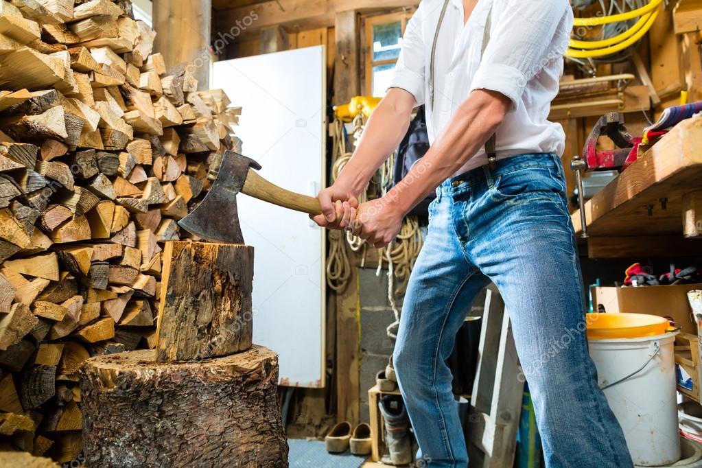 человек колет дрова картинки урожайное, его