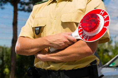 Police - policeman or cop stop car