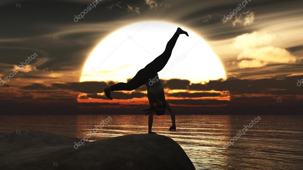 exercise and sunset