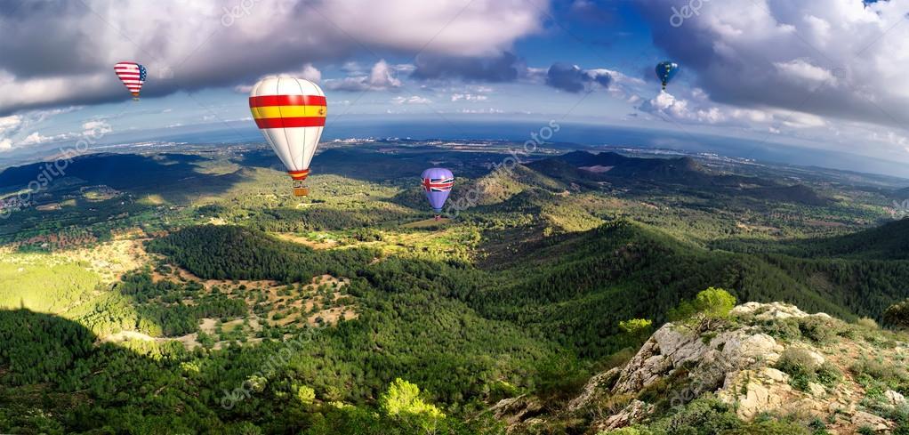 hot air balloons in majorca