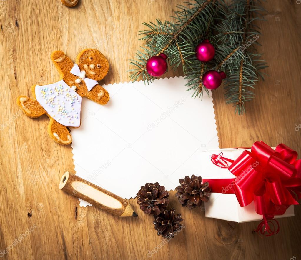 Weihnachtskarte: leer, Jahrgang ländlichen Geschenk und ...