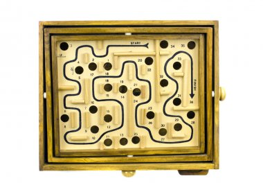 Table game labyrinth isolated