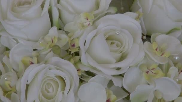 Wedding white beautiful rose bouquet  florist composition