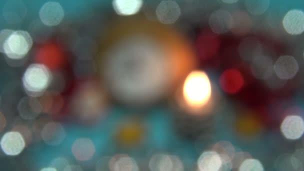Año Fondo Con VelaReloj Y Juguetes De Desenfoque Navidad Nuevo lKJc13TF