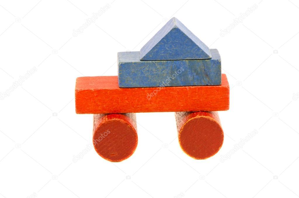 Juguete Carro Usado Colores De Bloques De Madera Foto De Stock