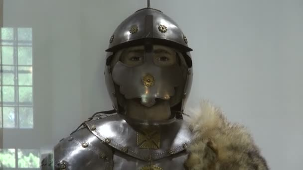 Medieval knight armour at museum