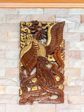 Bird wood carvings