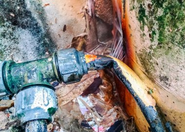 Leakage from old pipes