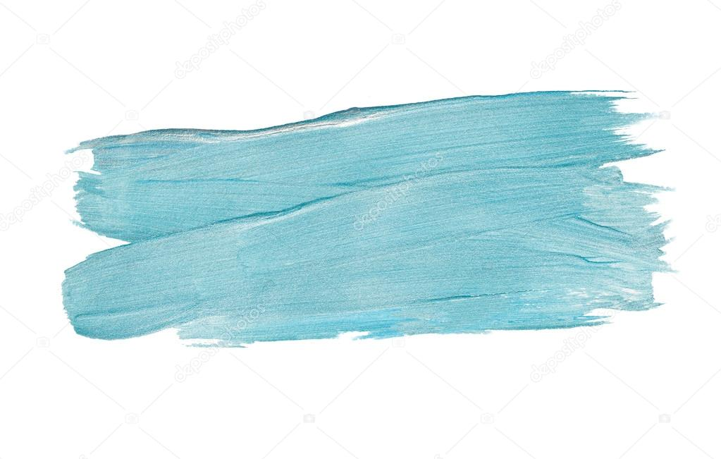 Turquoise Blue Glitter Watercolor Texture Paint Stain Abstract Illustration  Set. Shining Brush Stroke For You