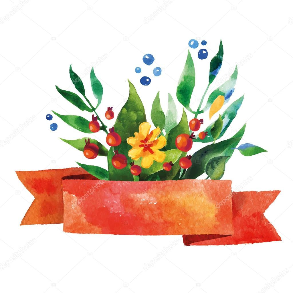 Beautiful Floral Greeting Card. Bright illustration, invitation card