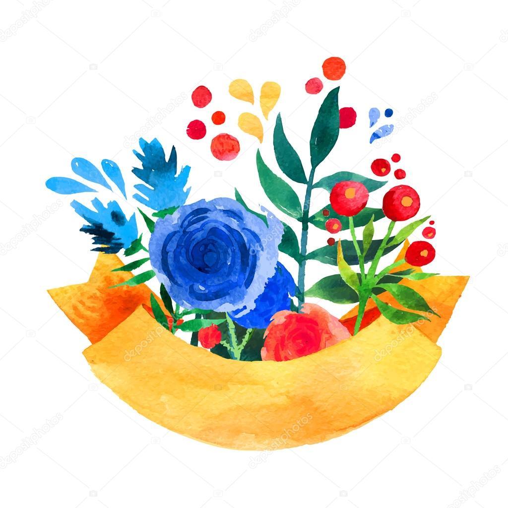 結婚式、誕生日および休日やかわいい夏背景母の日花挨拶リボン