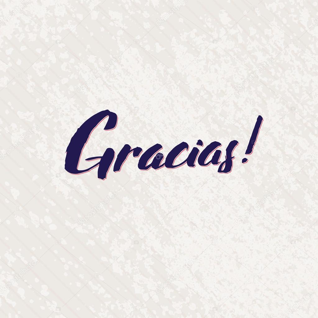Gracias mano Español Letras caligrafía hecha a mano de vector ...