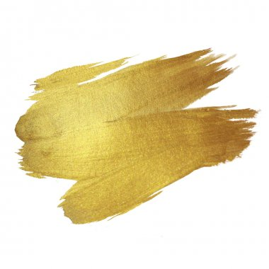 Gold Shining Paint Stain Hand Drawn Illustration stock vector