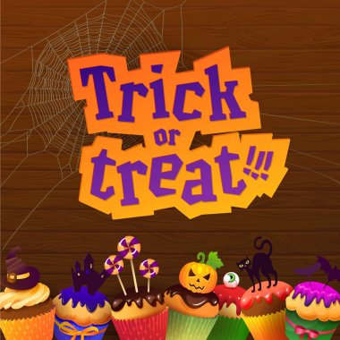 Happy Halloween Trick or Treat Greeting Card