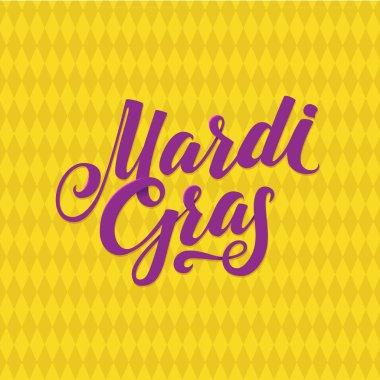 Mardi Gras Logo Calligraphic Poster
