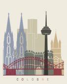 Kölner Skyline-Plakat
