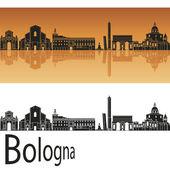 Photo Bologna skyline in orange background