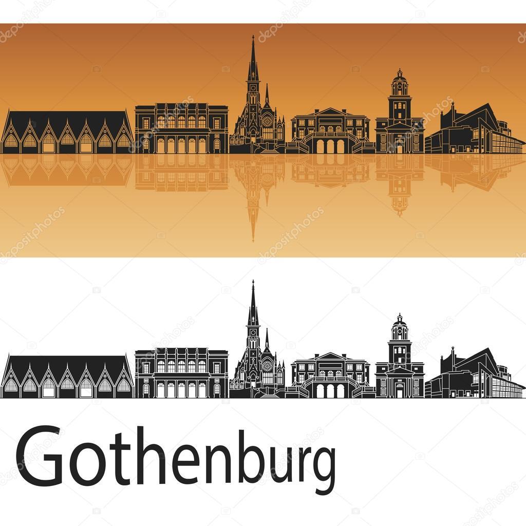gratulationskort göteborg Göteborgs skyline — Stock Vektor © paulrommer #71395271 gratulationskort göteborg