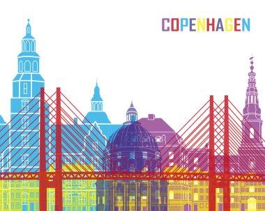 Copenhagen skyline pop in editable vector file stock vector