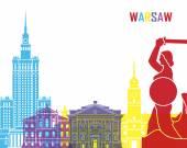 Fotografia Warsaw skyline pop
