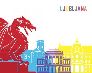 Ljubljana skyline pop