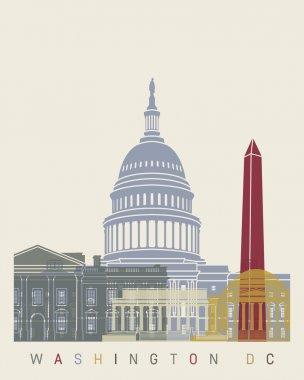 Washington DC skyline poster