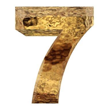 golden metal number seven
