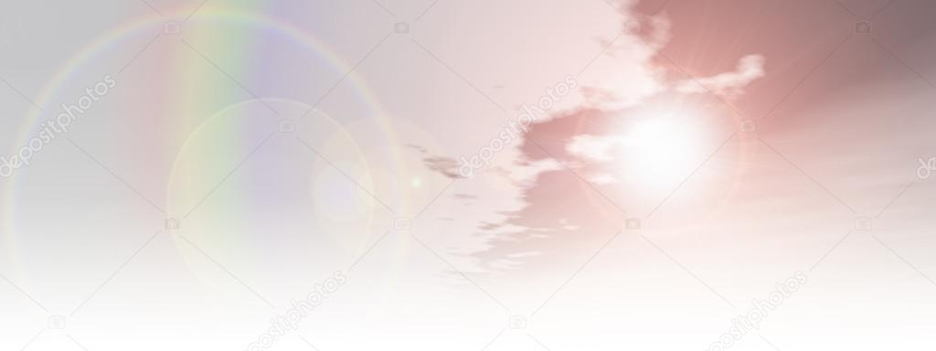 Background High Resolution For Banner High Resolution Beautiful Natural Rainbow Sky With White Clouds Paradise Cloudscape Background Banner Stock Photo C Design36 100177666