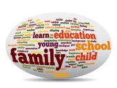 education abstract word cloud
