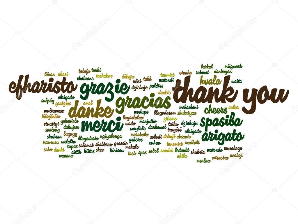 Nube de palabra de Resumen gracias — Foto de stock © design36 #100327648