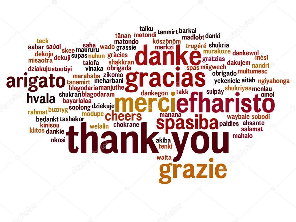 Nube de palabra de Resumen gracias — Foto de stock © design36 #100328100